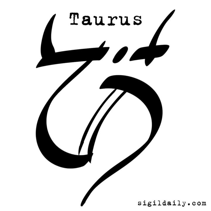 Zodiac Sigil Taurus Sigil Daily