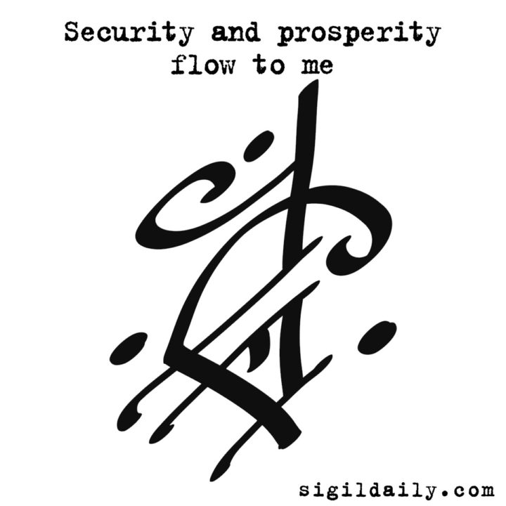 Security and prosperity flow to me.